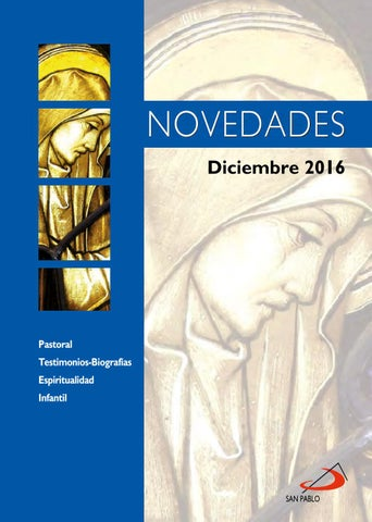 Boletín de Novedades Editorial San Pablo España - Diciembre 2016