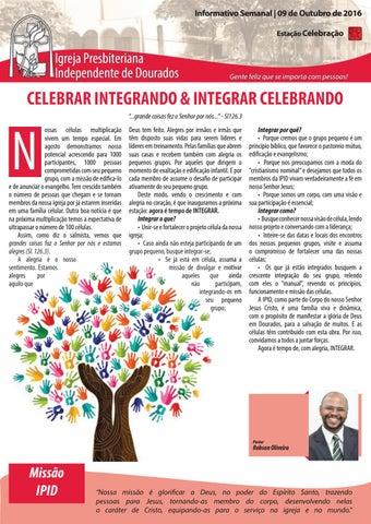 Boletim Informativo IPID 09 de Outubro de 2016
