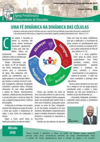 Boletim Informativo IPID 22 de Janeiro de 2017