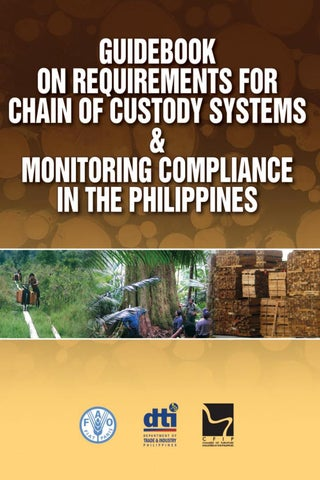Guidebook on Requirements for Chain of Custody Systems & Monitoring Compliance in the Philippines