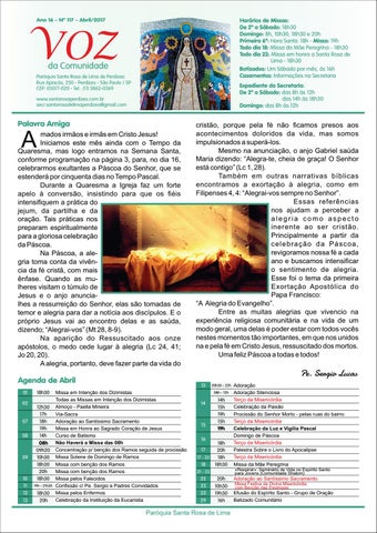 [Jornal Santa Rosa de Lima – Abril 2017]