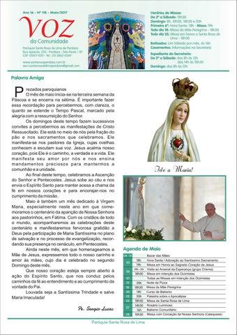 [Jornal Santa Rosa de Lima – Maio 2017]