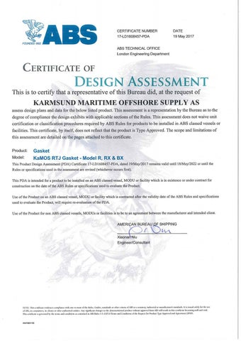 4 – ABS Design Assessment - Certificates – KaMOS<sup>®</sup>