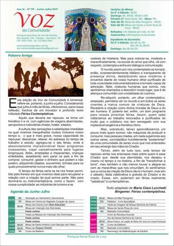 [Jornal Santa Rosa de Lima – Junho e Julho 2017]