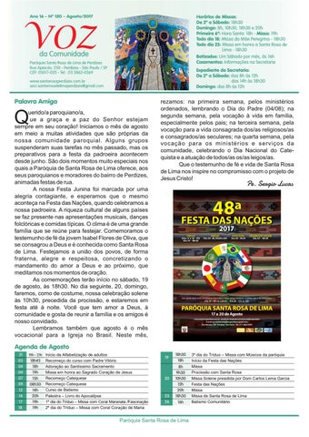 [Jornal Santa Rosa de Lima – Agosto de 2017]