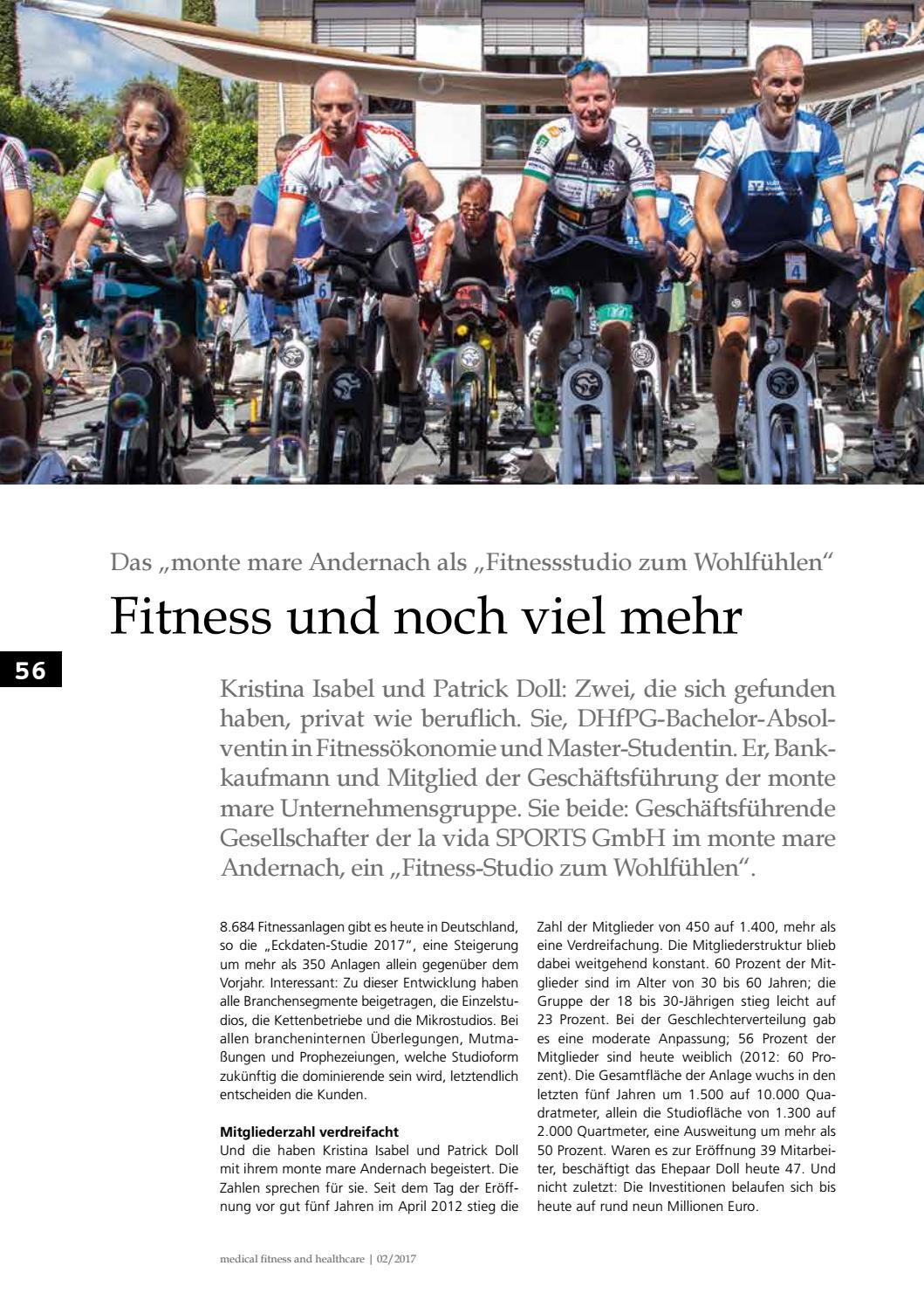 """Fitness Management: """"Fitnessstudio zum Wohlfühlen"""" - monte mare Andernach"""
