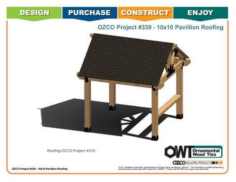 OZCO Project Pavilion Roofing (10x10) #339