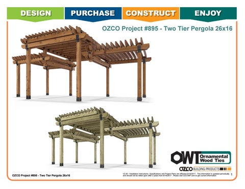OZCO Project #895 - 26x16 Two-Tier Pergola