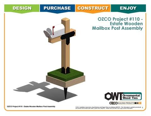 OZCO Project #110 Estate Wooden Mailbox Post