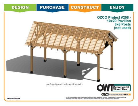 OZCO Project 10x 20 Pavilion With 6x6 Posts #208