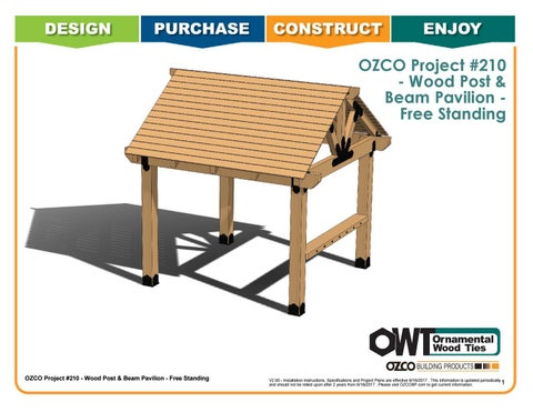 OZCO Project Wood Post and Beam Pavilion – Free Standing  #210