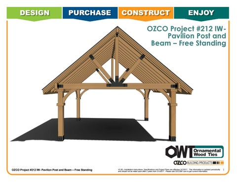 OZCO Project Pavilion Post and Beam – Free Standing #212