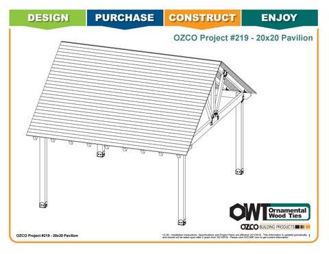 OZCO Project #219 - 20x20 Davis Pavilion