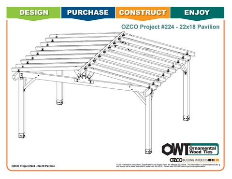 OZCO Project #224 - 22x18 Deeds Pavilion