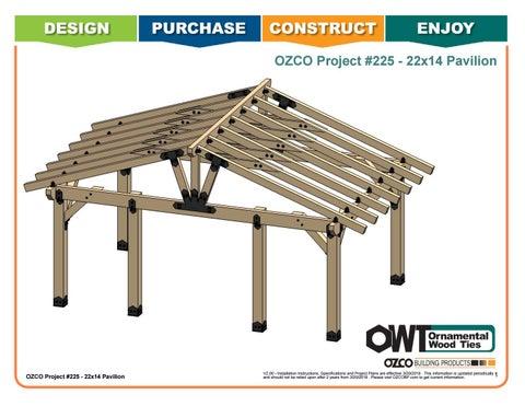 OZCO Project #225 - 22x14 Ahlers Pavilion
