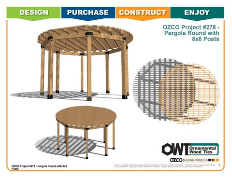 OZCO Project #278 - Pergola Round with 8x8 Posts