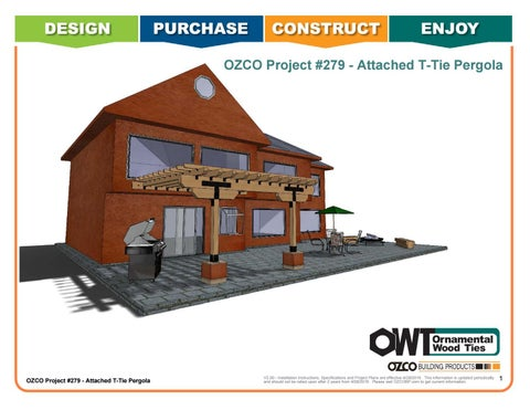 OZCO Project #279 Attached T Tie Pergola