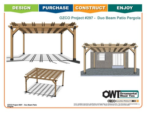 OZCO Project #297 - 12'x16' Double Beam Patio Pergola