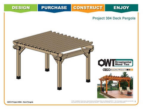 OZCO Project #304 - Deck Pergola with 8x8 Posts
