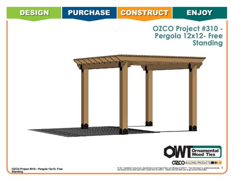 OZCO Project Pergola Cedar Patio – Free Standing Project #310