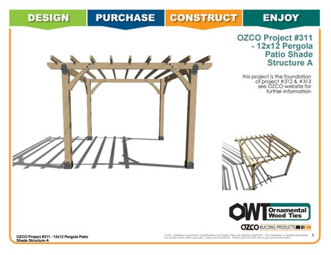 OZCO Project Arbor / Pergola Shade Patio Structure #311 A