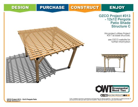 OZCO Project Arbor / Pergola Shade Patio Structure #313 C