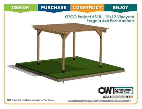 OZCO Project #318 - Ornamental Post Anchor Pergola