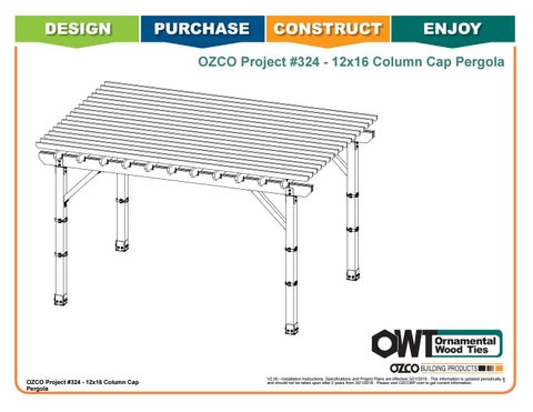 OZCO Project #324 - 12x16 Column Cap Pergola