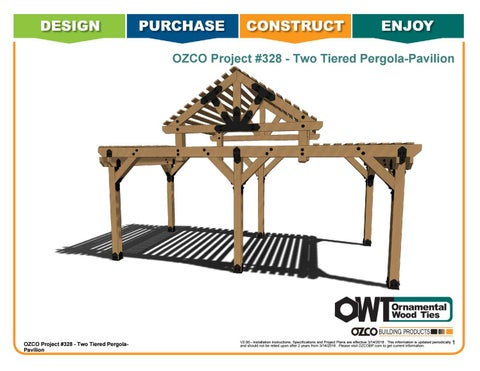 OZCO Project #328 Two Tiered Pergola Center Pavilion