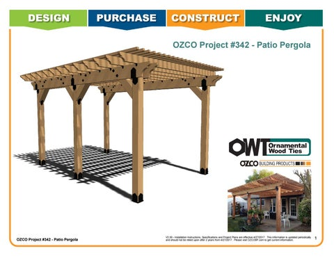 OZCO Project Patio Pergola Coupler Post to Beam #342