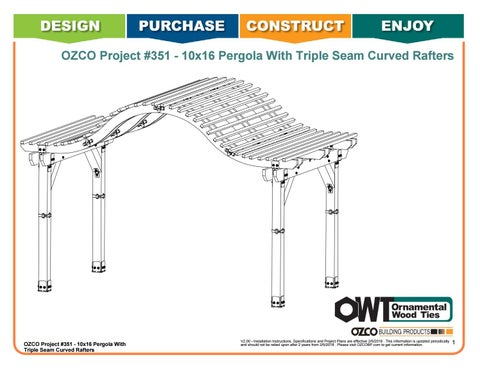 OZCO Project #351 - 10x16 Pergola With Triple Seam Curved Rafters