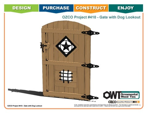 OZCO Project Gate with Dog Lookout.  Project #410