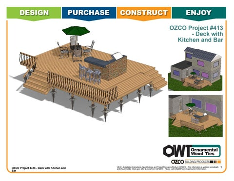 OZCO Project Deck with Kitchen & Bar #413