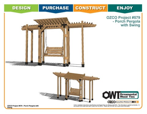 OZCO Project #579 - Porch Pergola with Swing