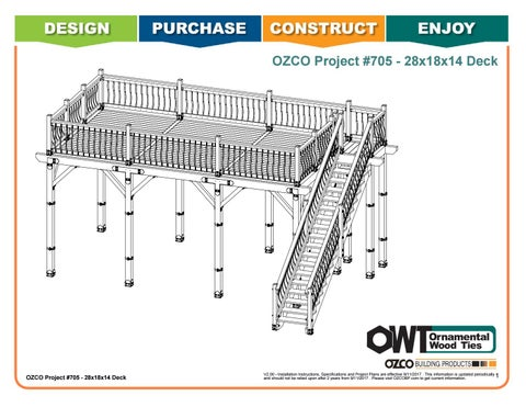 OZCO Project #705 - 28x18x14 2-Story Deck with Stairs