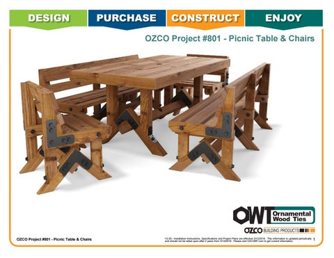 OZCO Project #801 - Table and Chairs