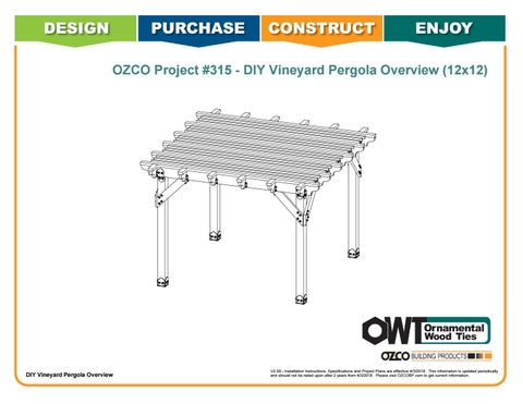 OZCO Project Arbor / Pergola Shade Patio Structure #315