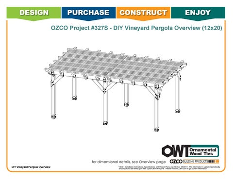 OZCO Project 12x20 Vineyard Pergola - #327S