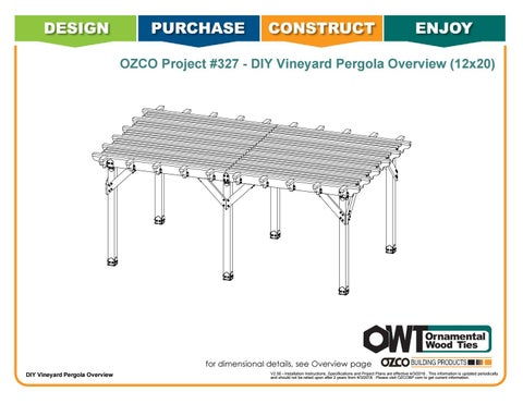 OZCO Project 12x20 Vineyard Pergola - #327