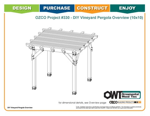 OZCO Project 10x10 Vineyard Pergola - #330