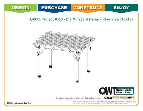 OZCO Project 10x12 Vineyard Pergola - #333