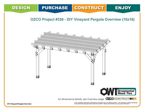 OZCO Project 10x16 Vineyard Pergola - #336