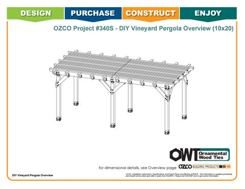 OZCO Project 10x20 Vineyard Pergola - #340S