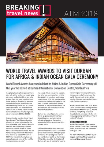 Breaking Travel News Special Edition - Arabian Travel Market 2018
