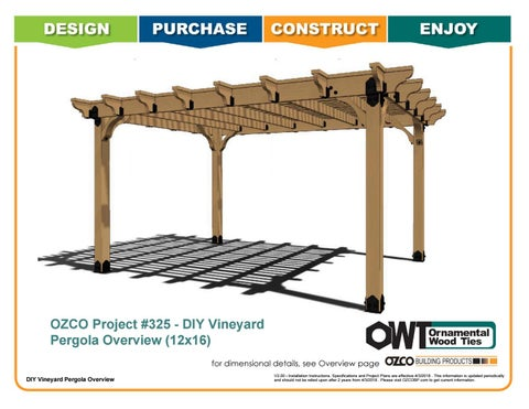 OZCO Project #325 – 12x16 Vineyard Pergola