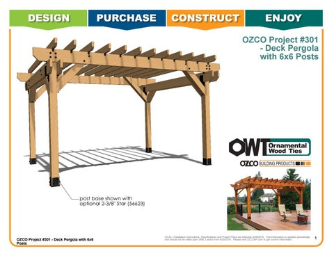 OZCO Project #301 - Deck Pergola with 6x6 Posts