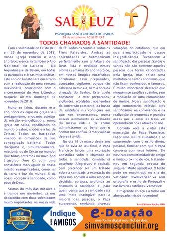 [Boletim Sal e Luz nº 242 – 28 de Outubro 2018]