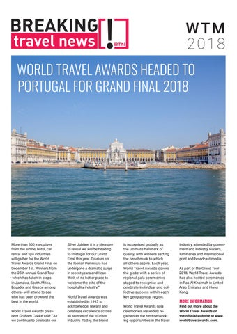 Breaking Travel News Special Edition - World Travel Market 2018