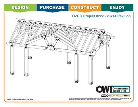 OZCO Project #222 - 23x14 Three Gabled Pavilion