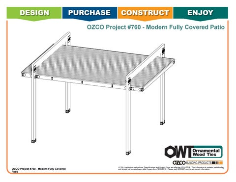 OZCO Project #760 - Modern Fully Covered Patio (20X16)